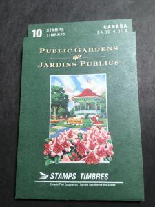 Canada USC #BK130b (#1315b) 1991 40c Public Gardens Pane of Ten in Open Cvr.Bklt