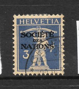 LEAGUE OF NATIONS 1922-44  3c   ULTRAMARINE    FU   SG LN2