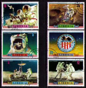 Liberia Used 599-604 Apollo 16 Moon Walk 1972