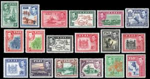 Fiji Scott 117-131B (1938-55) Mint H/LH VF Complete Set, CV $202.55
