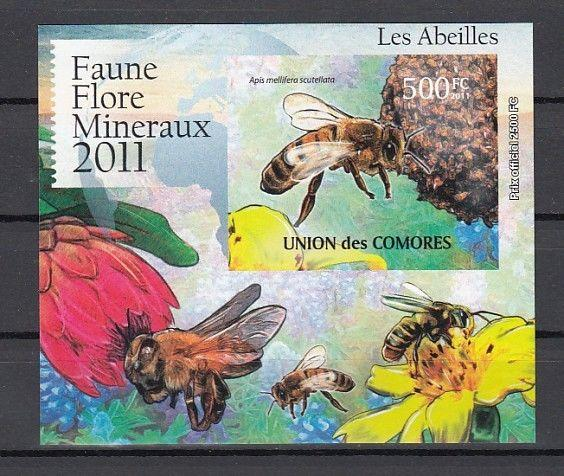 Comoros Is., 2011 issue. Honey Bees s/sheet.