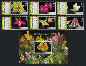 Jersey Orchids 6th series 7v SG#1372-1378