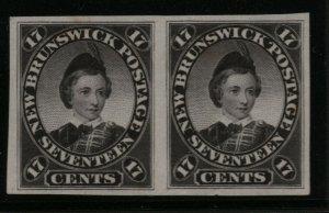 New Brunswick #11P Very Fine Proof Pair On India Paper