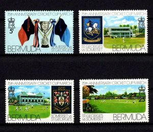 BERMUDA - 1976 - CRICKET - ST GEORGE & SOMERSET CLUB MATCHES ++ MINT - MNH SET!