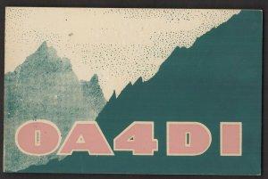 QSL CARD OA4DI,Jose Dorca De La Quintana, Lima,Peru(Q4447)