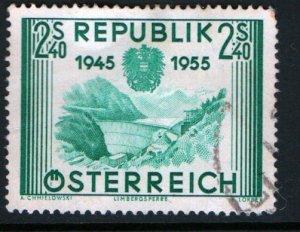 AUSTRIA  603 USED  LIMBERG DAM ISSUE 1955