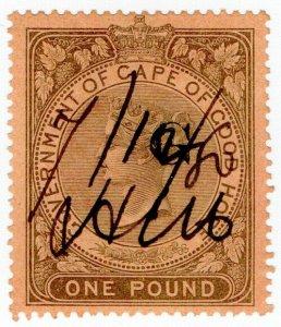 (I.B) Griqualand West Revenue : Duty Stamp £1