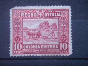 ERITREA, 1928, used 10c, Plowing, Scott 50
