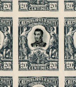 (I.B) Haiti Postal : Republique D'Haiti 20c (complete sheet)