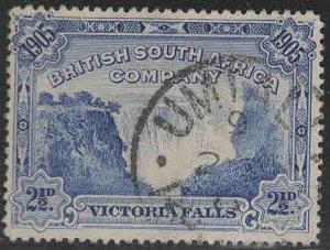 Rhodesia Scott 77a Used Victoria Falls stamp  perf 14.5x15 CV$20