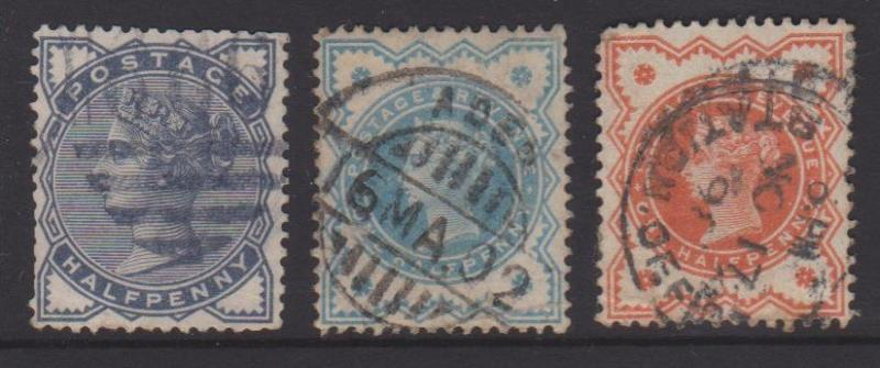 Great Britain Sc#98,111,125  Used