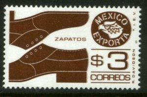 MEXICO Exporta 1118, $3P Shoes Prf14 Unwmkd Fosfo Paper 5 MINT, NH. VF.