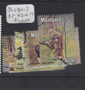 MALAYSIA (P3008B)  SG  190-7  $1.00X2     MOG