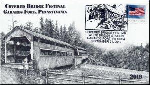19-247, 2019, Covered Bridge Festival, Pictorial Postmark, Event Cover, Garards