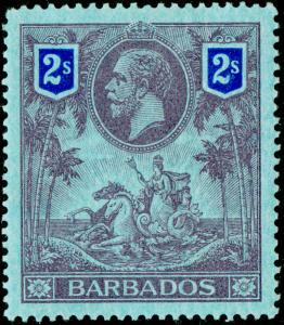 BARBADOS SG179, 2s purple & blue/blue, LH MINT. Cat £60.