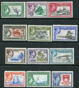 GILBERT & ELLICE ISLANDS-1939-55 Set to 5/- Sg 43-54 MOUNTED MINT V34675
