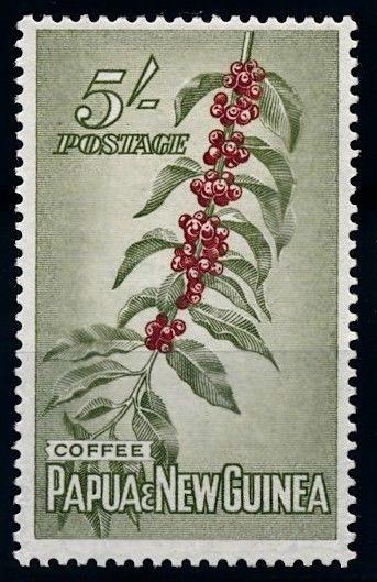 [64721] Papua New Guinea 1958 Flora Coffee Plant Kaffee Pflanze From Set MLH