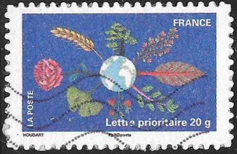 France 3972 Used - Celebrating the Earth - Flora & Earth