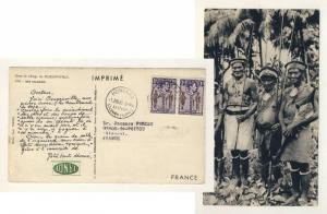 BR. SOLOMON ISLANDS 1955 SG61x2 on Pharmaceutical Advert Card HONIARA to FRANCE