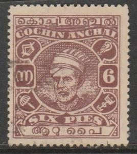 Inde / Cochin  1943  Scott No. 65  (O)