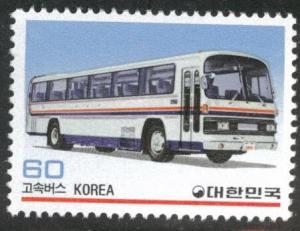 Korea Scott 1326 MNH** 1983 Buss stamp