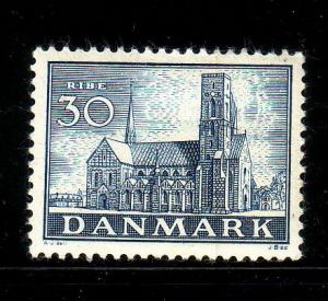 Denmark Sc 258 1936 30 o Ribe Cathedral Stamp mint