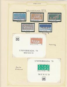 mexico universiada 1979 stamps page ref 17232
