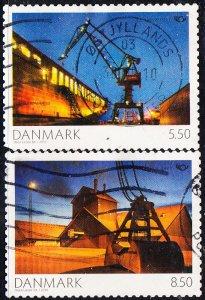 Denmark #1466-1467  Used