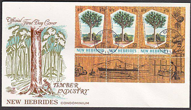 NEW HEBRIDES 1969 Timber Industry commem FDC...............................55061