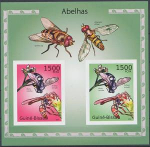 GUINE BISSAU SHEET IMPERF BEES INSECTS