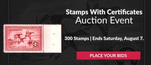 The 15th Stamps With Certificates Auction