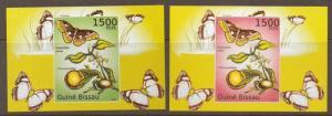 G.BISSAU 2011 BUTTERFLIES 2 M/SHEETS (NO2) MNH