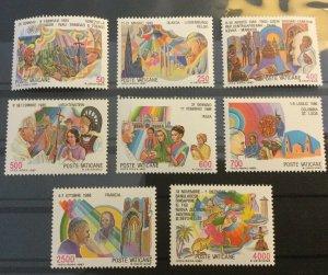 Vatican City Sc# 795-802 MNH Complete Set - 1987 JOURNEYS OF POPE JEAN PAUL II
