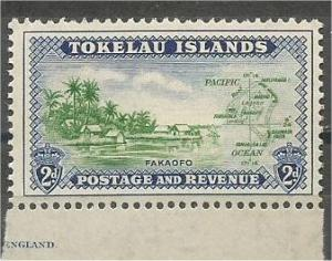 TOKELAU, 1948, MNH 2p, Fakaofo Scott 3