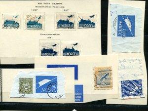 Norway  Intersting  air mail lot used  - Lakshore Philatelics