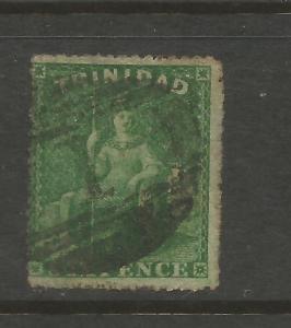 TRINIDAD  1861  6d  DEEP GREEN   FU  SG 57