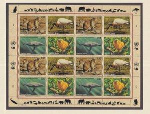 United Nations Geneva  #246-249a  MNH  1994  sheet  endangered species