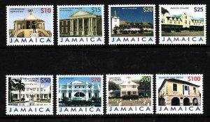 Jamaica-Sc#1038-45-Unused NH set-Buildings-2006-