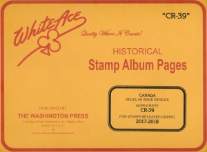 WHITE ACE 2017-2018 Canada Regular Issue Singles Stamp Album Supplement CR-39