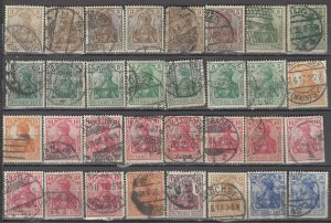 COLLECTION LOT OF #1193 GERMANY 32 GERMANIA STAMPS 1902+ CLEARANCE CV + $38