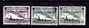 Thailand C20-22 Used 1952-53 set   #2