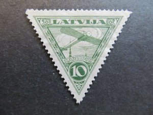 A4P25F51 Latvia Lettonia Lettland Air Post Stamp 1928 10s mint no gum