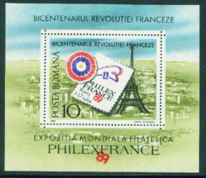 Romania Scott 3593 MNH** 1989 Philexfrance Sheet