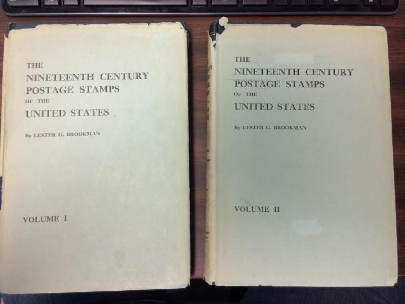 THE NINETEENTH CENT. POSTAGE STAMPS OF THE U.S., SIGNED BY AUTHOR, VOL I & 2