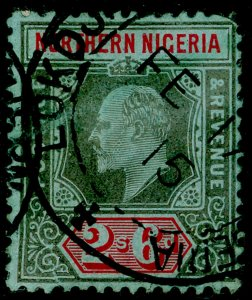 NORTHERN NIGERIA SG37, 2s 6d black & red/blue, USED. Cat £48.
