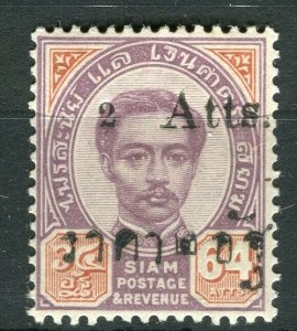THAILAND; 1894 Large Roman 'Atts' surcharge mint hinged 2/64a. Optd. variety