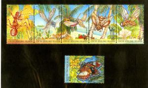 COCOS ISLAND 302-5 MNH STRIP OF 5 +1 SCV $8.75 BIN $4.50