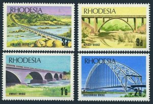 Rhodesia 271-274,MNH.Michel 84-87. Bridges 1969.Low level,Mpudzi,Umniati River,
