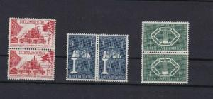 LUXEMBOURG 1956 EUROPEAN COAL & STEEL MNH STAMPS PAIRS CAT £210  REF 4897