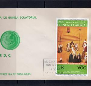 Equatorial Guinea 1978 Coronation Queen Elizabeth II 25th.Anniversary S/S FDC